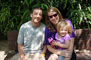 Cincinnati Zoo: Cardin with her mom and dad