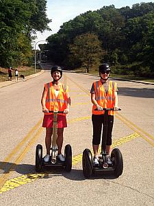 We went on a two-hours segway tour at Eden Park! Mom Klocke and Kelly getting used to the segways.