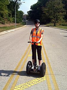 Kelly on the segway.