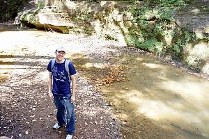 Hiking in Hocking Hills, to see Old Man's Cave.
