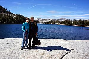 Mom and Dad Klocke at Cathedral Lake. We didn't last long up here, because it was very chilly and windy.