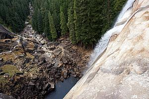 Looking down from the edge of the Vernal Fall.