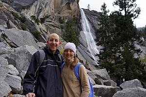 Jay and Kely in front of Nevada Fall