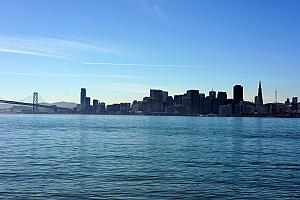 Looking back towards downtown San Francisco from Treasure Island