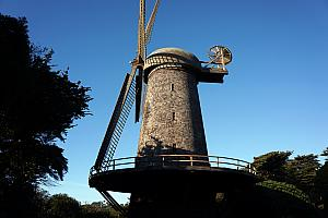 At the edge of Golden Gate Park are two windmills over 100 years old. This one was built in 1903.