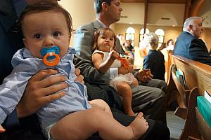 babies Jack and Claire at the wedding.