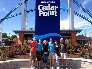Cedar Point with Kevin, Kyleen and Mom and Dad Klocke