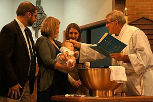 Baptism in progress ... success!