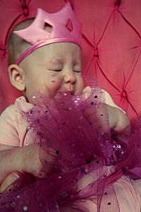 But didn't last long, because she kept trying to eat her tutu, and didn't like it!