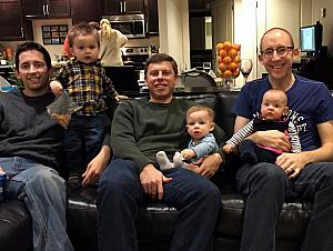 Friendsgiving 2014 - dads and kids. Scary!