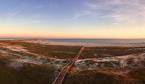 On to Dauphin Island. The sunset view from our Balcony.