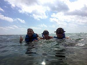 Snorkeling / goggling in the water!