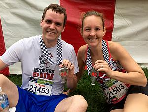 Kelly and Adam finished in record time (for them, at least). Great job!