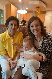 Capri with Great Aunt Christina and Mommy
