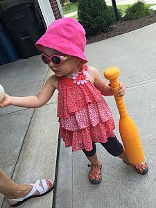 Capri getting raedy to play some baseball!