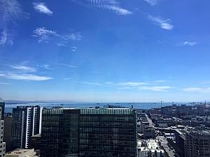 Kelly in San Francisco -- view from the hotel!