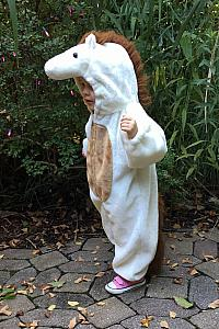 Capri in her Horse Halloween costume at the Cincinnati Zoo