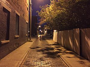 Capri is running through the alleys of OTR