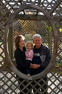 Kelly, Capri, and Grandpa