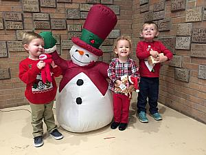 Benny, Cooper, and Capri with Frosty!