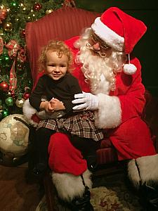 Visit with Santa success ... no tears! Though, she did pee through her diaper a few minutes later. I joked that she was so scared she peed her pants!