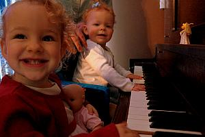 Capri and Kenley playing some piano tunes :)