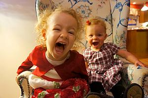 Capri and Kenley really excited about something!