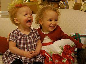 Kenley and Capri having another laugh (this is a common theme)