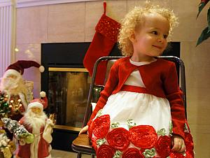 Capri ready to open her gifts