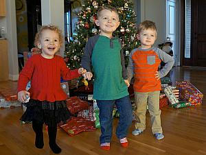 Capri, Cooper and Benny happy for Christmas!