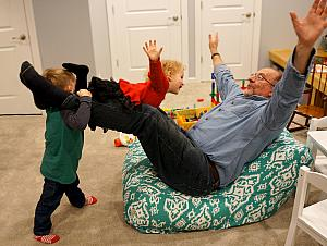 Papa is the airplane for Capri, with Cooper assisting :)