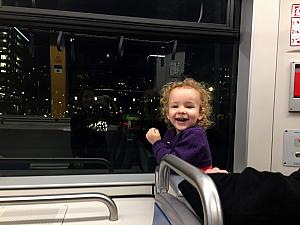Very happy to be on the streetcar