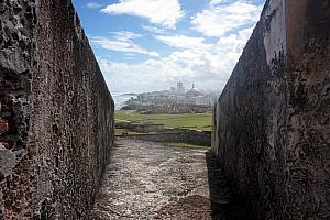 looking back toward old San Juan