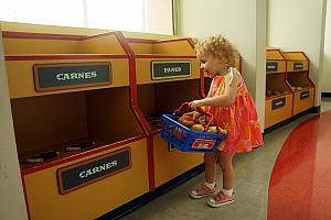 Capri's favorite part of the museum - the supermarket!