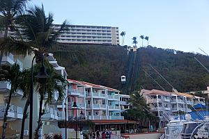 The resort even featured a complimentary funicular, to get from the top of the cliff to the sea level.