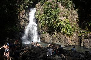 The hike took us to La Mina falls