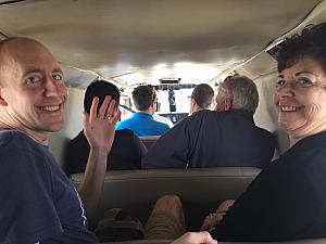 The rest of the passengers -- it was a tight squeeze. Luckily, the plane ride was only 8 (no typo) minutes :).