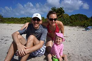 Family photo time! Happy to be at the beach.
