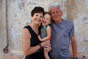 Capri all smiles with Mimi and Grandpa!