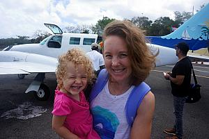 Capri excited to go on another little plane!
