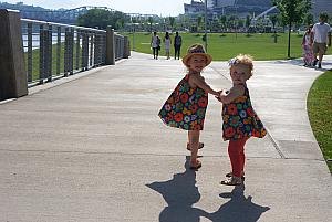 Capri and Kenley at Smale Park