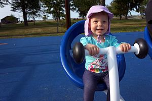 Kenley on the teeter totter